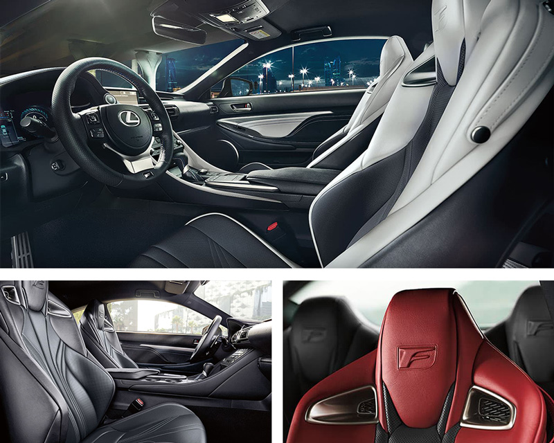 2021 Lexus RC F Interior Design